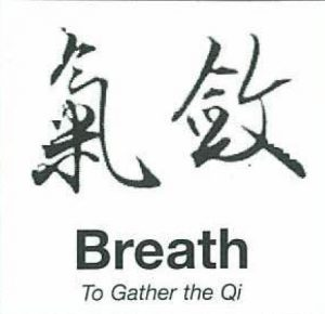Breath to gather the QI